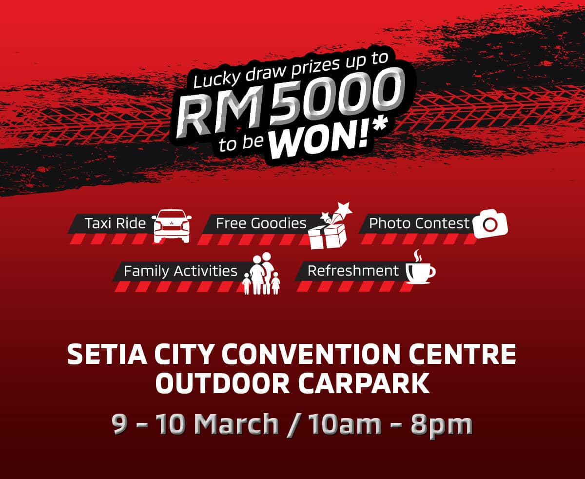Mitsubishi Event Setia City Outdoor Carpark | Mitsubishi Motors Malaysia