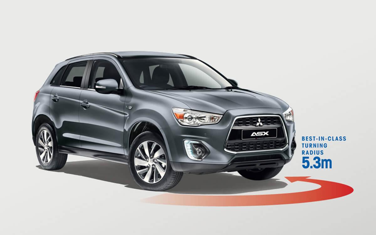Mitsubishi ASX Best Turning Radius 5.3m | Mitsubishi Motors Malaysia
