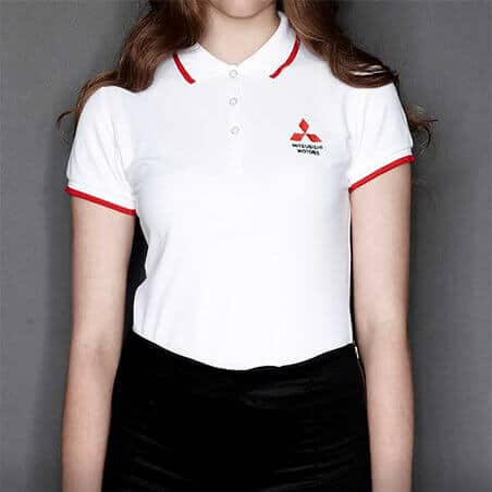 Ralliart Collar Shirt White Female | Mitsubishi Motors Malaysia