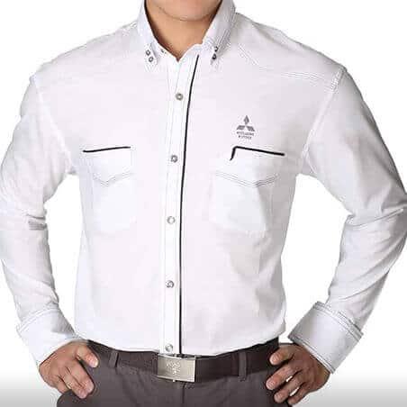 Ralliart Male Shirt White | Mitsubishi Motors Malaysia
