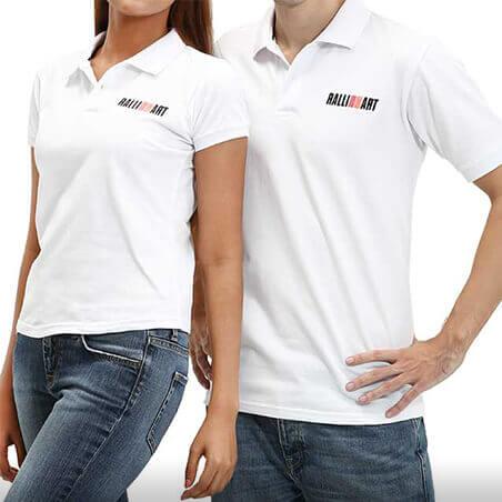Ralliart Polo T-Shirt (White) | Mitsubishi Motors Malaysia