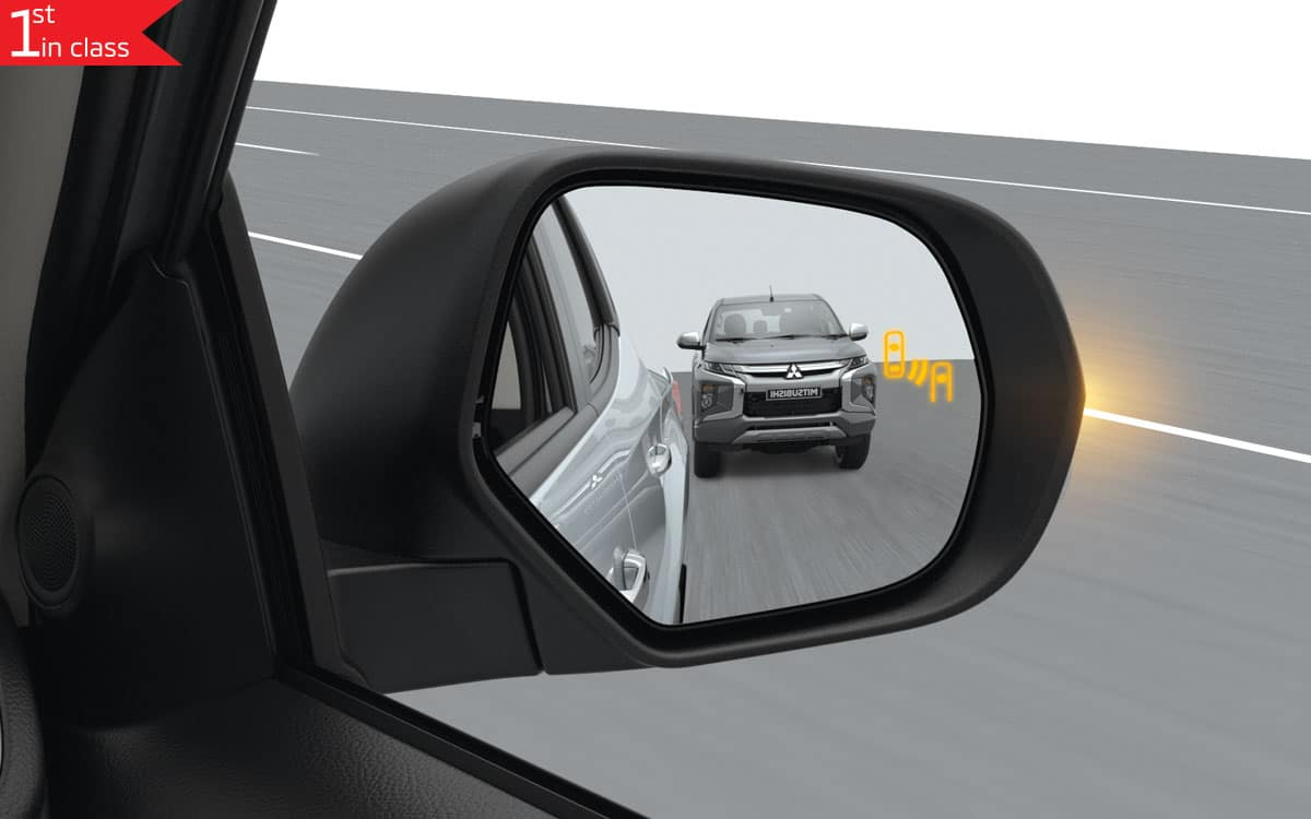 Triton 4x4 Blind Sport Warning - Lane Change Assist | Mitsubishi Motors Malaysia