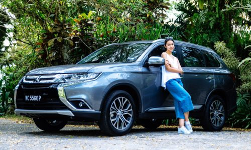 Sharifah Sakinah with Outlander | Mitsubishi Motors Malaysia